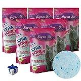 Lyra Pet® 6 x 5 L = 30 L Lyra Power Silikat Katzenstreu Cat...